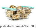 Fresh raw shitake mushroom isolated on white 42070783