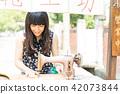 亞洲台灣台中霧峰光復新村美女人像中國風女人人像裁縫機俏皮生氣 42073844