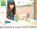 亞洲台灣台中霧峰光復新村美女人像中國風女人人像裁縫機俏皮生氣 42073846
