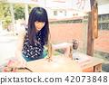 亞洲台灣台中霧峰光復新村美女人像中國風女人人像裁縫機俏皮生氣 42073848