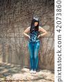 亞洲台灣台中霧峰光復新村美女人像中國風女人人像裁縫機俏皮生氣 42073860