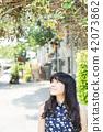 亞洲台灣台中霧峰光復新村美女人像中國風女人人像裁縫機俏皮生氣 42073862
