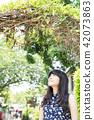 亞洲台灣台中霧峰光復新村美女人像中國風女人人像裁縫機俏皮生氣 42073863