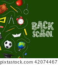 Back to school in chalkboard background 42074467