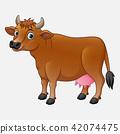 Cute cow cartoon 42074475