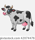 Cute cow cartoon 42074476