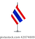 Thai flag hanging on the metallic pole 42074609