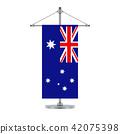 Australian flag on the metallic cross pole 42075398