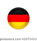 German flag on the round button, vector 42075433