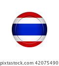 Thai flag on the round button, vector illustration 42075490