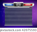 Creative vector illustration digital scoreboard broadcast graphic isolated on transparent background 42075593