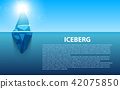 Creative vector illustration of under water antarctic ocean iceberg. Art design infographic template 42075850