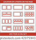 Icon set of location photos on page photobook 42075943