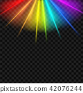Creative vector illustration of rainbow glare spectrum isolated on transparent background. Art 42076244
