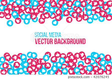 Creative vector illustration of social network icons isolated on transparent background. Art design 42076245
