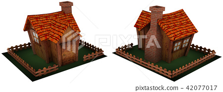Small game-style 3D cabin 42077017