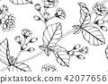 Seamless Jasmine flower pattern background.  42077656