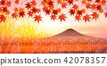 벼 후지산 단풍 배경 42078357