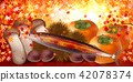 Sanara autumn leaves background 42078374