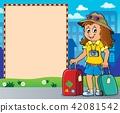 frame, tourist, woman 42081542