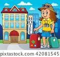 Tourist woman theme image 3 42081545