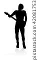 Musician Guitarist Silhouette 42081753