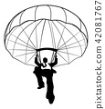 parachute, businessman, vector 42081767