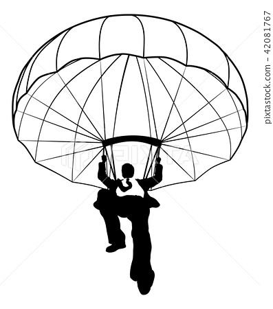 Parachute Businessman Silhouette 42081767