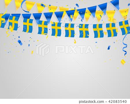 Sweden flags Celebration background 42083540