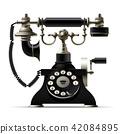 Old telephone isolated on white 42084895