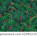 Watercolor hand painted seamless pattern.  42085210