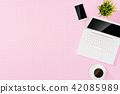 desk, laptop, computer 42085989