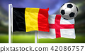 Belgium - England, FINAL OF FIFA World Cup, Russia 2018, National Flags 42086757