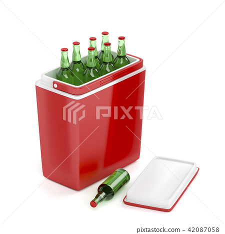 Cooling box with beer bottles 42087058