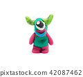 Play dough Alien on white background 42087462