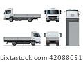 vector truck template 42088651