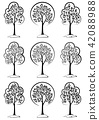 Trees Black Pictograms 42088988