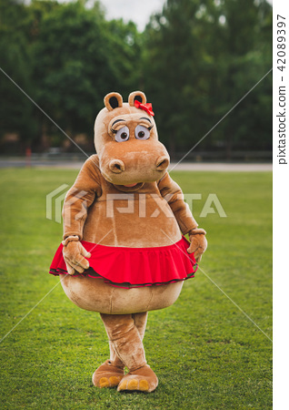 Red Hippo in red skirt 1261. 42089397