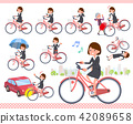 flat type Gray suit business women_city cycle 42089658
