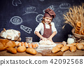 girl, bread, cook 42092568