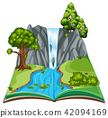 landscape tree vector 42094169