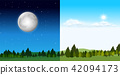Day time and night time scene 42094173