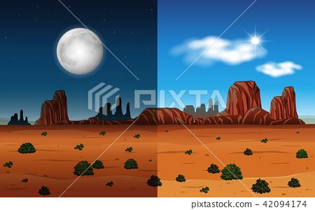 Day and night in a desert 42094174