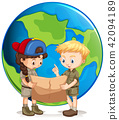 Boy and Girl Scouts Reading Map 42094189