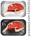 A Set of Raw Pork Chops 42094201