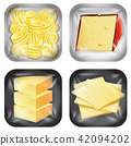 Set of different dairy packaged food 42094202