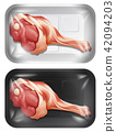 A Set of Raw Pork Legs 42094203