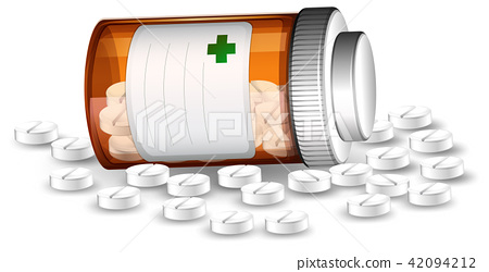 Container and medicene pills 42094212