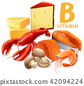 A Set of Vitamin B Food 42094224
