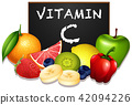 Variety of fruits with Vitamin C 42094226